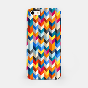 Abstract Blocks Going Down iPhone Case obraz miniatury
