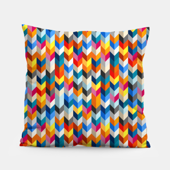 Thumbnail image of Abstract Blocks Going Down Pillow, Live Heroes