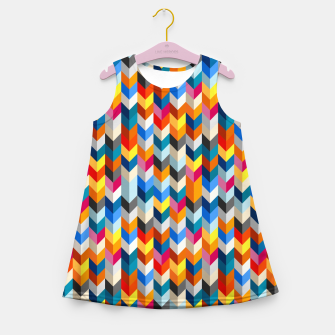 Abstract Blocks Going Down Girl's summer dress obraz miniatury