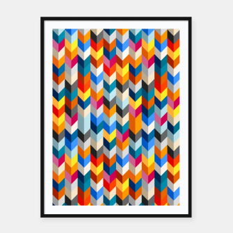 Abstract Blocks Going Down Framed poster obraz miniatury
