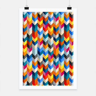 Abstract Blocks Going Down Poster obraz miniatury