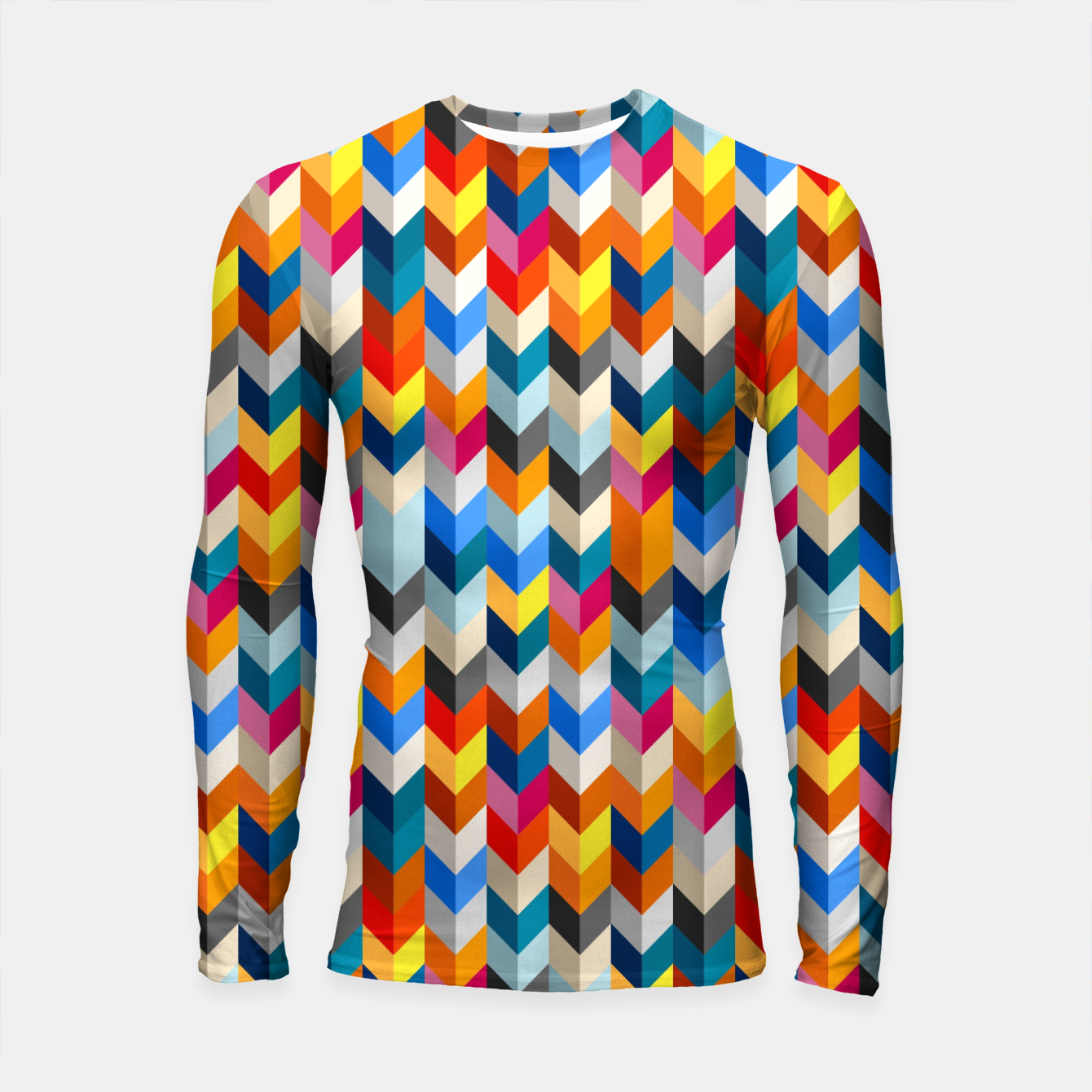 Zdjęcie Abstract Blocks Going Down Longsleeve rashguard  - Live Heroes