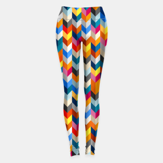 Abstract Blocks Going Down Leggings obraz miniatury