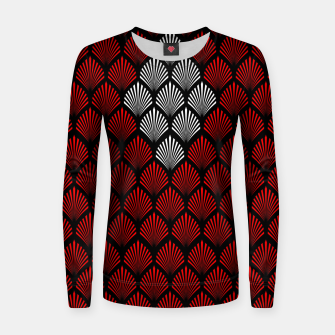 Thumbnail image of Abstract Diamond Feathers Women sweater, Live Heroes