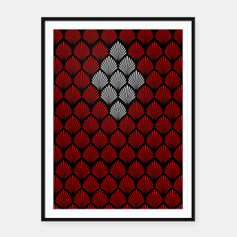 Thumbnail image of Abstract Diamond Feathers Framed poster, Live Heroes