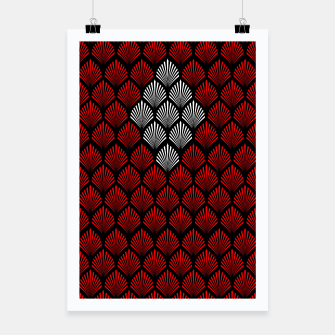 Thumbnail image of Abstract Diamond Feathers Poster, Live Heroes