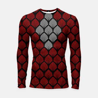 Thumbnail image of Abstract Diamond Feathers Longsleeve rashguard , Live Heroes