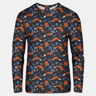 Thumbnail image of Foxes landscape at night 1 Sudadera unisex, Live Heroes