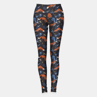 Thumbnail image of Foxes landscape at night 1 Leggings, Live Heroes
