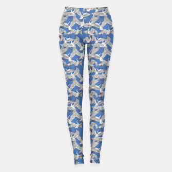 Miniatur Flock of crane birds Leggings, Live Heroes