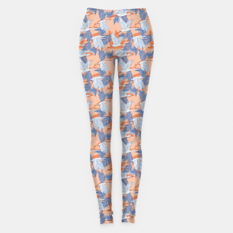 Miniatur Flock of crane birds tropical Leggings, Live Heroes