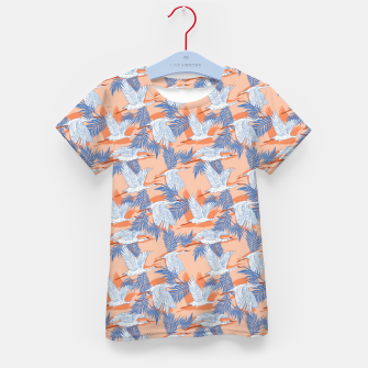 Miniatur Flock of crane birds tropical Camiseta para niños, Live Heroes