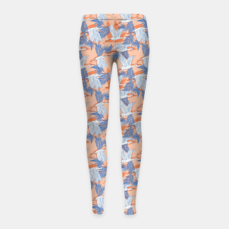 Miniatur Flock of crane birds tropical Leggings para niña, Live Heroes