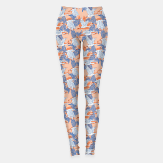 Thumbnail image of Flock of crane birds tropical Leggings, Live Heroes
