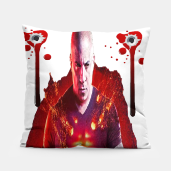Thumbnail image of BLOODSHOT DON'T PISS ME OFF Pillow, Live Heroes