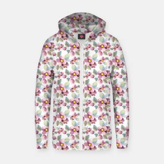 Miniatur Summer flowers 1 Zip up hoodie, Live Heroes