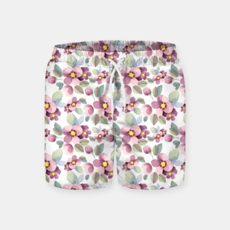 Summer flowers 1 Swim Shorts Bild der Miniatur