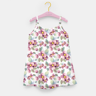 Miniatur Summer flowers 1 Girl's dress, Live Heroes