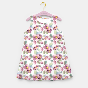 Miniatur Summer flowers 1 Girl's summer dress, Live Heroes