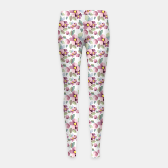 Summer flowers 1 Girl's leggings Bild der Miniatur