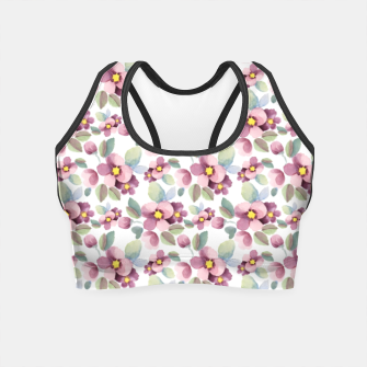 Miniatur Summer flowers 1 Crop Top, Live Heroes