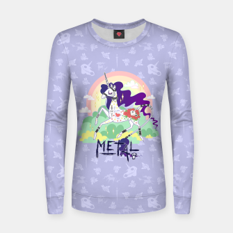 Thumbnail image of Tattooed Unicorn - Metal Women sweater, Live Heroes