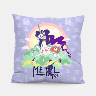 Thumbnail image of Tattooed Unicorn - Metal Pillow, Live Heroes