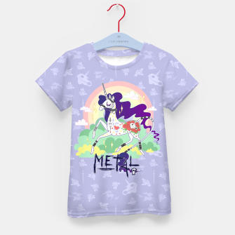 Thumbnail image of Tattooed Unicorn - Metal Kid's t-shirt, Live Heroes