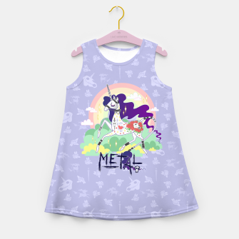 Thumbnail image of Tattooed Unicorn - Metal Girl's summer dress, Live Heroes