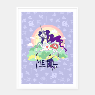Thumbnail image of Tattooed Unicorn - Metal Framed poster, Live Heroes