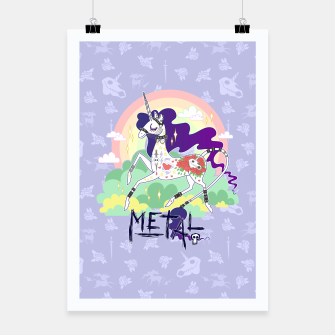 Thumbnail image of Tattooed Unicorn - Metal Poster, Live Heroes
