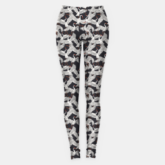 Thumbnail image of Flock of crane birds-dark Leggings, Live Heroes