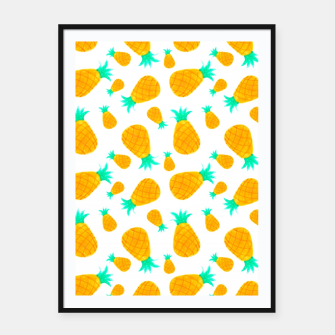 Miniatur Pineapple Pattern Framed poster, Live Heroes