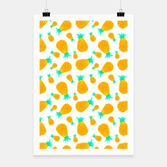 Miniatur Pineapple Pattern Poster, Live Heroes