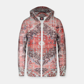 Floral Traditional Moroccan Artwork  Zip up hoodie thumbnail image