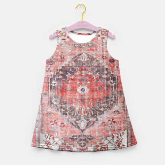 Floral Traditional Moroccan Artwork  Girl's summer dress thumbnail image