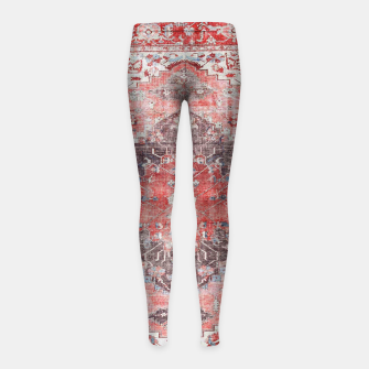 Floral Traditional Moroccan Artwork  Girl's leggings thumbnail image