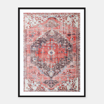 Floral Traditional Moroccan Artwork  Framed poster thumbnail image