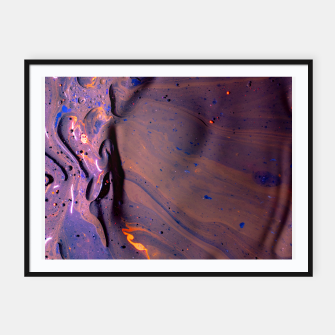 Thumbnail image of Organic Purple Framed poster, Live Heroes