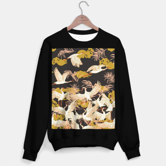 Thumbnail image of Cranes dance at night Sudadera regular, Live Heroes