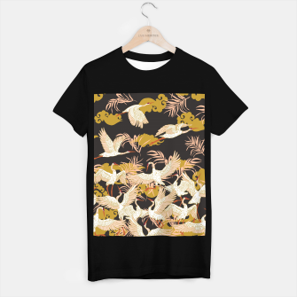 Thumbnail image of Cranes dance at night Camiseta Regular, Live Heroes
