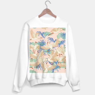 Thumbnail image of Cranes dance tropical I Sudadera regular, Live Heroes
