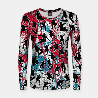 Miniatur Skater Retro Urban Graffiti Women sweater, Live Heroes