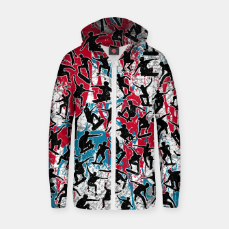 Thumbnail image of Skater Retro Urban Graffiti Zip up hoodie, Live Heroes