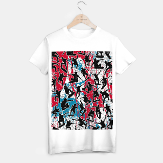 Miniatur Skater Retro Urban Graffiti T-shirt regular, Live Heroes