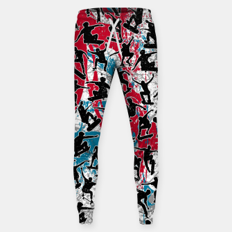 Miniatur Skater Retro Urban Graffiti Sweatpants, Live Heroes