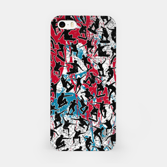 Miniatur Skater Retro Urban Graffiti iPhone Case, Live Heroes