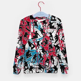Miniatur Skater Retro Urban Graffiti Kid's sweater, Live Heroes