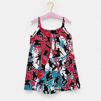 Miniatur Skater Retro Urban Graffiti Girl's dress, Live Heroes
