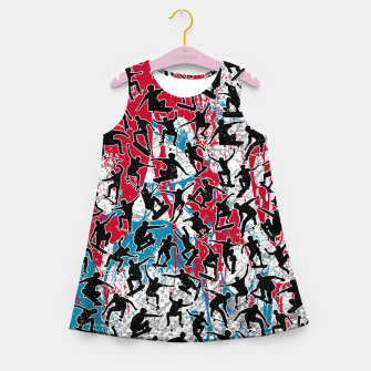 Thumbnail image of Skater Retro Urban Graffiti Girl's summer dress, Live Heroes